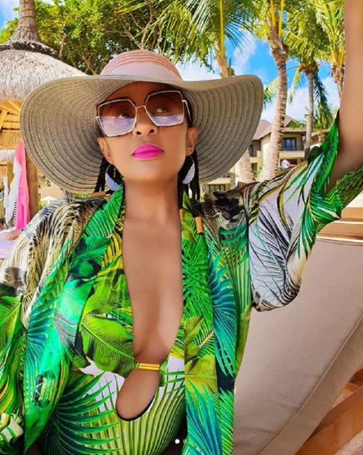 Basetsana Kumalo summer vibes on vacay