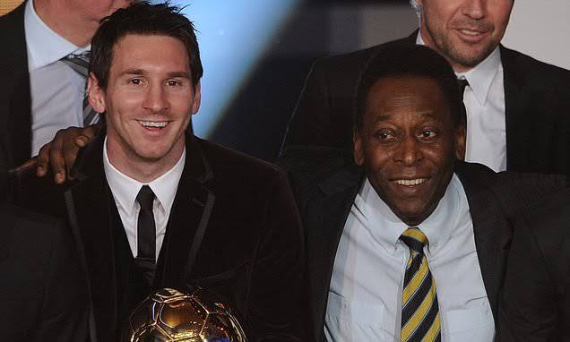 Lionel Messi equals Pele's scoring record for a single club